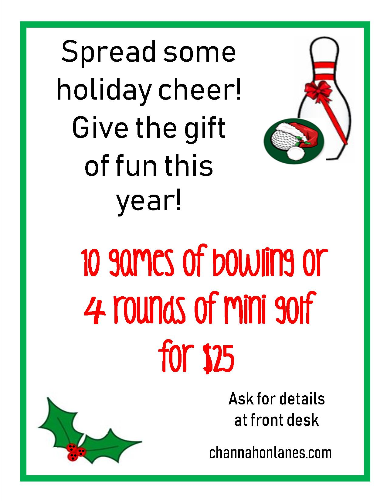 holiday punch cards